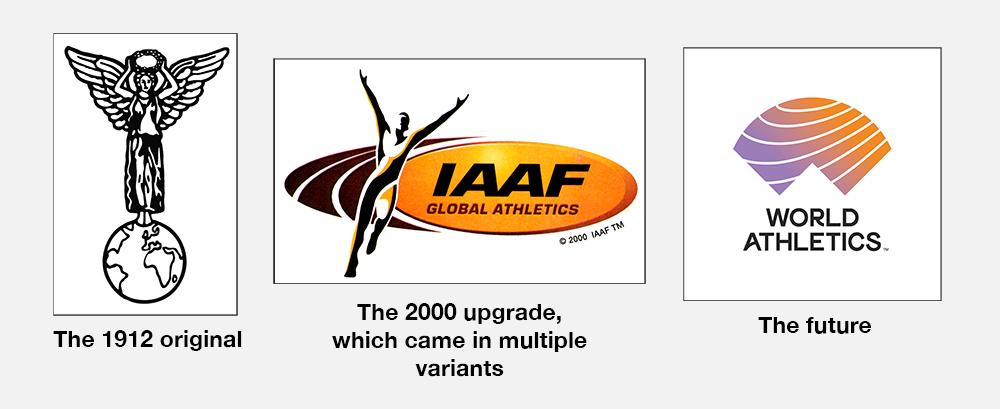 evolucion logos iaaf
