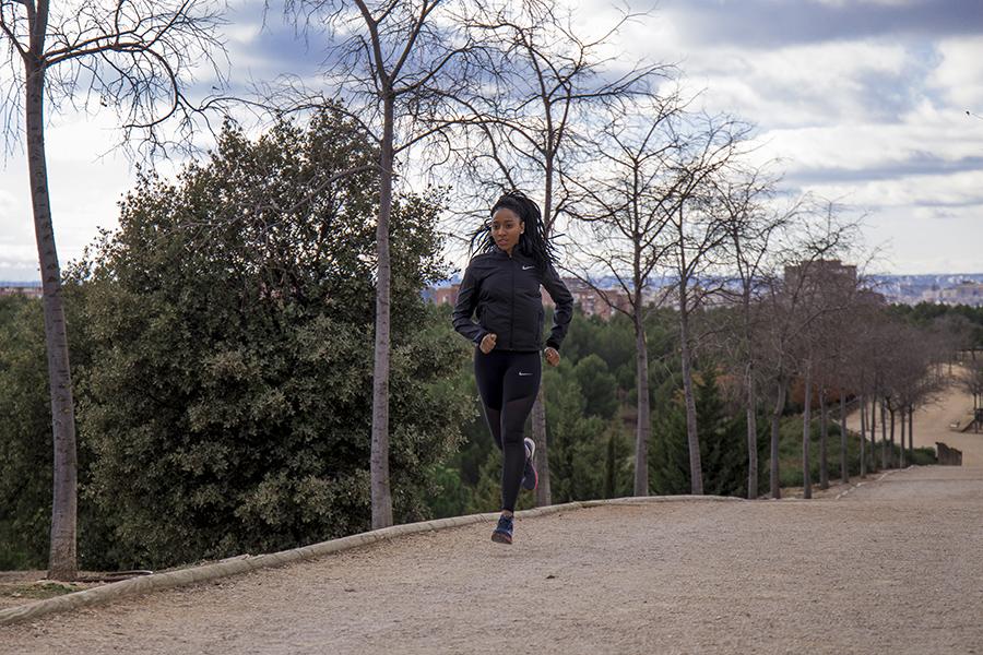corredora entrena en solitario madrid
