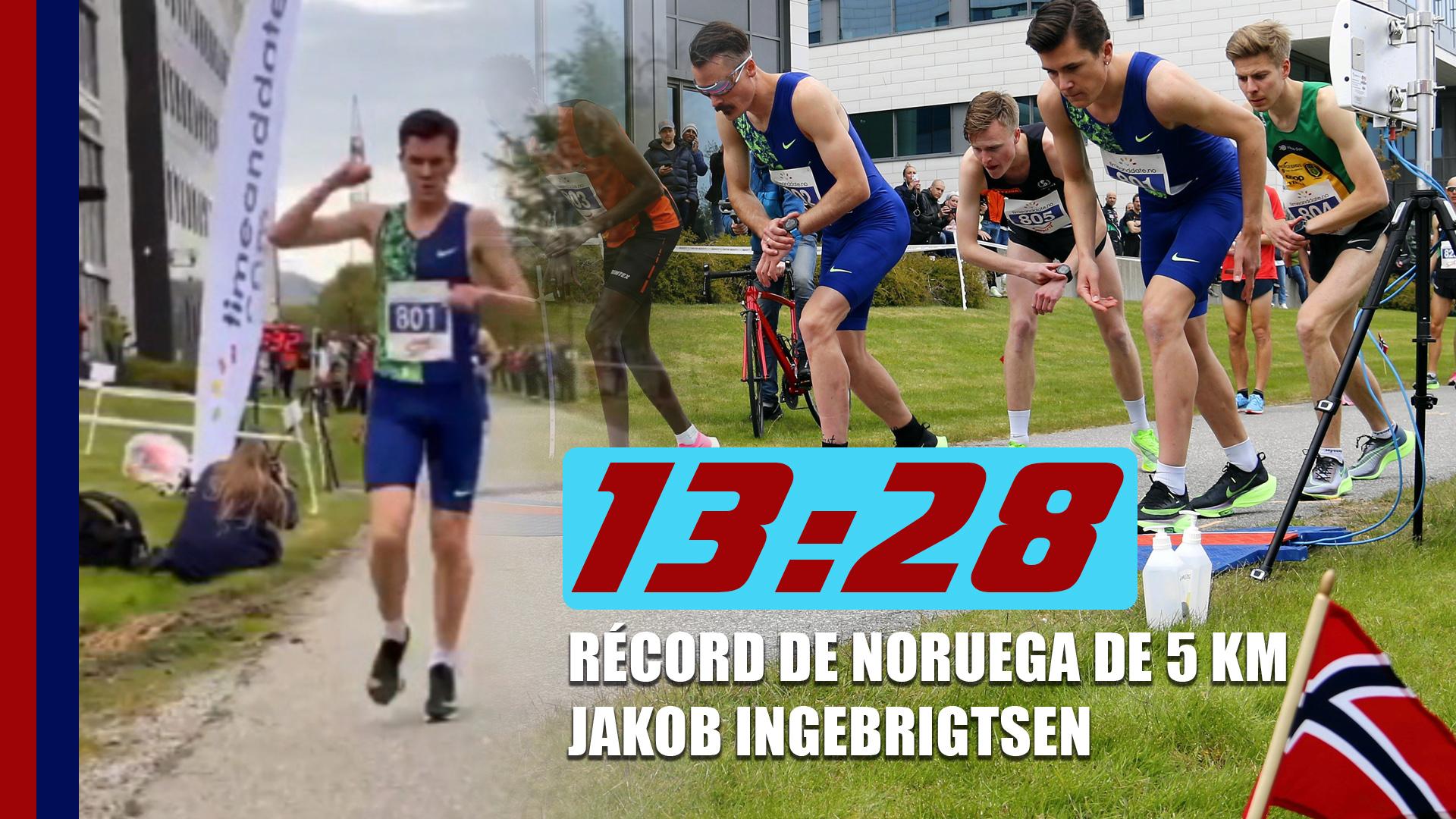 JAKOB INGEBRIGTSEN RECORD 5K STAVANGER