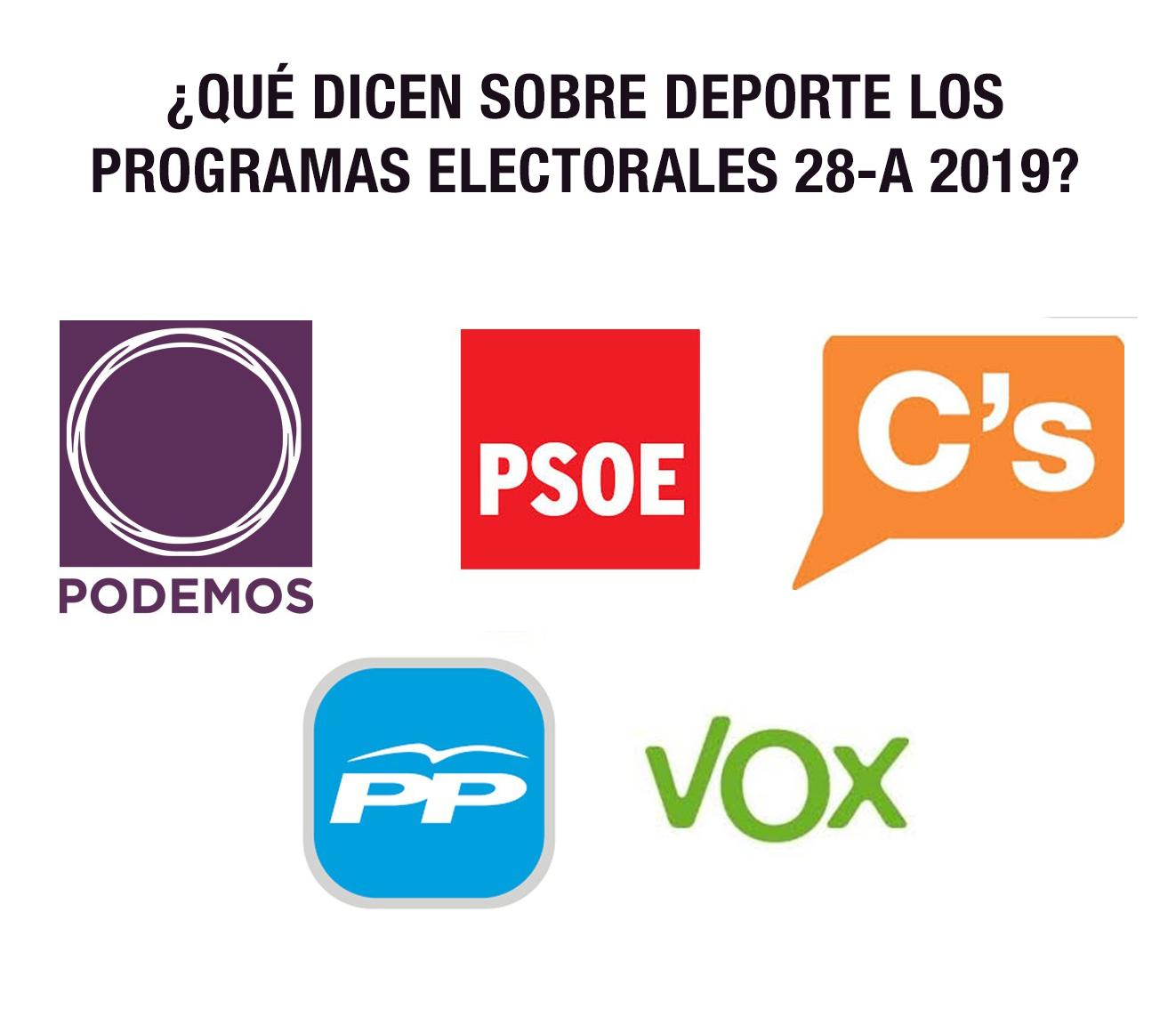 elecciones deporte 28A