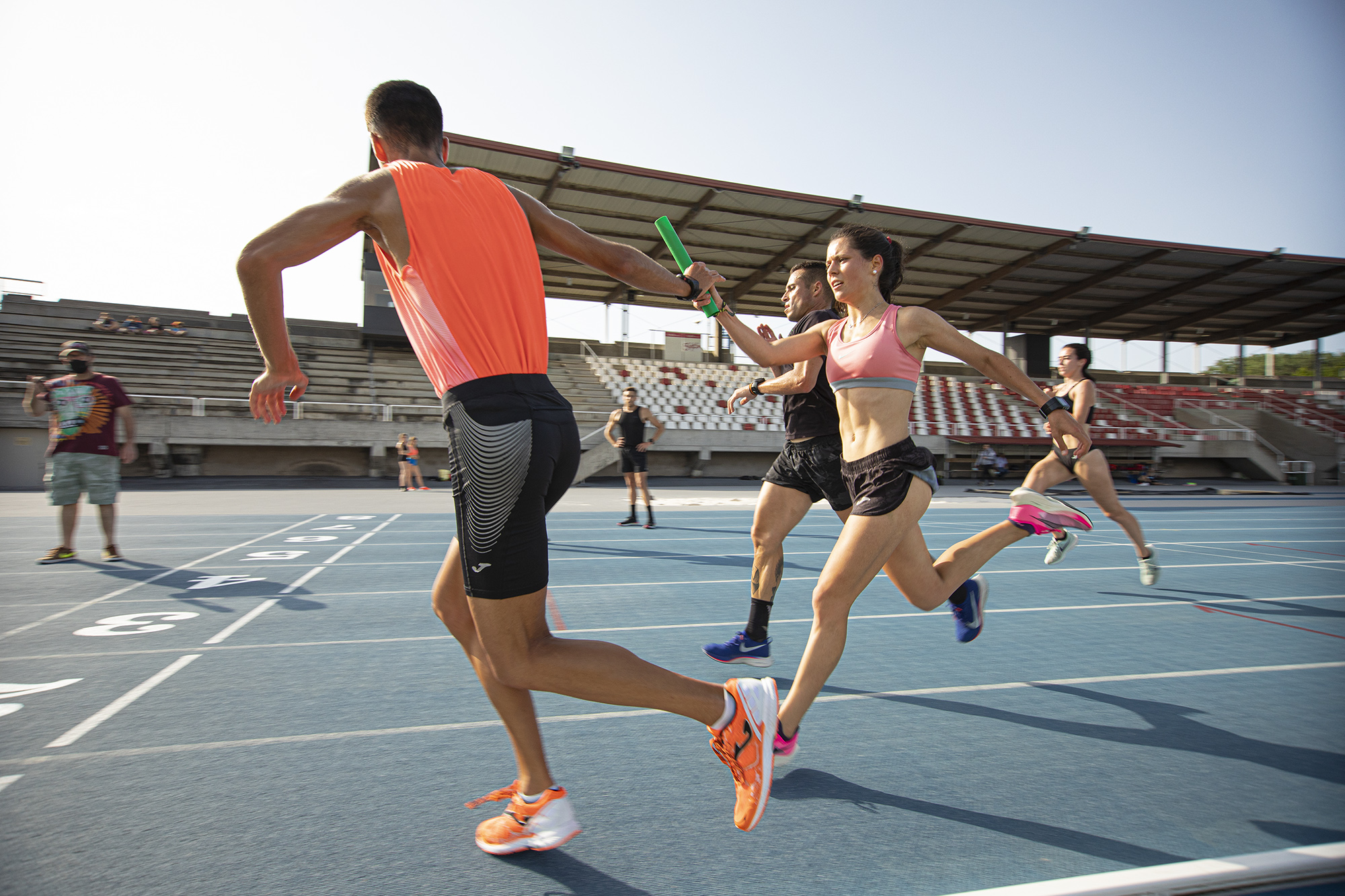 isabel barreiro carlos garcia gijon reto relevo 25x400 atletismo