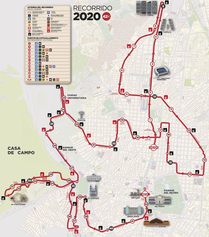 MAPA MARATON MADRID 2020